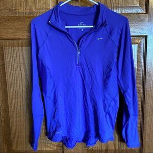 Nike medium purple quarter zip
